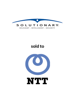 AGC Partners Advises Solutionary on its Sale to NTT Tombstone